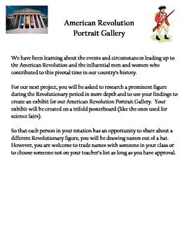 American Revolution Portrait Gallery Project