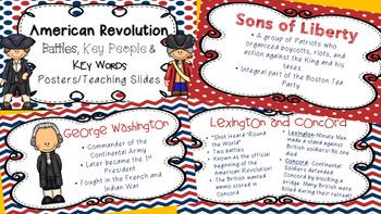 American Revolution Poster/Teaching Slides Bundle
