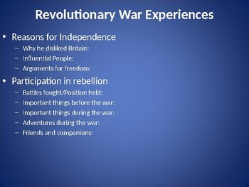 American Revolution PowerPoint Project Template