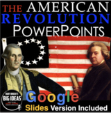 American Revolution PowerPoint w/Video Clips+Presenter Notes(Revolutionary War)