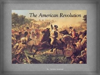 American Revolution Powerpoint -Common Core aligned