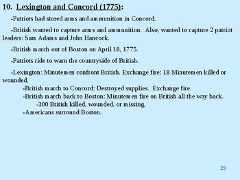 American Revolution Powerpoint (with videos embedded)