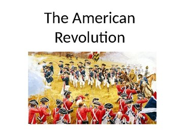 Speech Therapy-Special Education-American Revolution Presentation