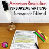 American Revolution Primary Documents & Argumentative Writing Unit