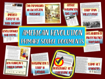 American Revolution Primary Source: The Intolerable Acts w