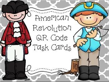 American Revolution QR Code Task Cards