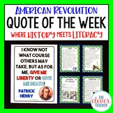 American Revolution - Task Cards & Literacy Strategies