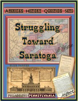 American Revolution Question Sets -- Revolutionary War -- Start to Saratoga