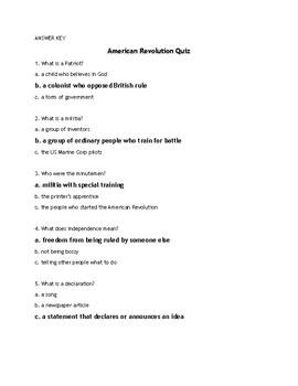 American Revolution Quiz