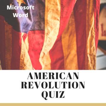 American Revolution Quiz - Microsoft Word
