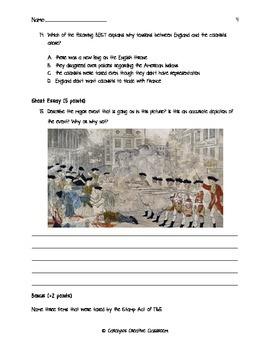 American Revolution Quiz Set