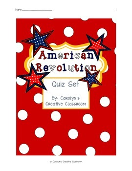 American Revolution Quiz Set