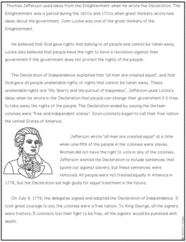 American Revolution Nonfiction Packet and Activity
