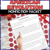 American Revolution Reading Packet and Activity