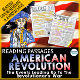 American Revolution Reading Passages | Events Leading up t