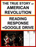 American Revolution Reading Response Questions, Answer Key + Google Doc