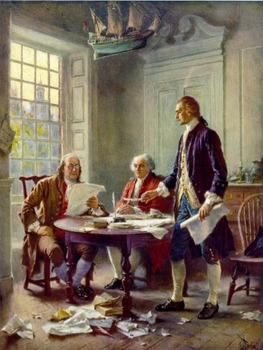 """American Revolution - Recreate """"Writing the Declaration of Independence, 1776"""""""