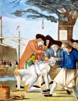 """American Revolution - Recreating the """"Bostonians Paying the Excise-Man"""" Painting"""