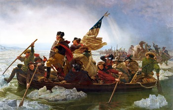 """American Revolution - Recreating the """"Washington Crossing the Delaware"""" Painting"""