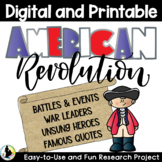 American Revolution Research Activity | Distance Learning | Google Classrooms