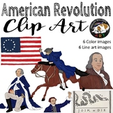 American Revolution Revolutionary War Clip Art Set