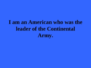 American Revolution PowerPoint Game Activity