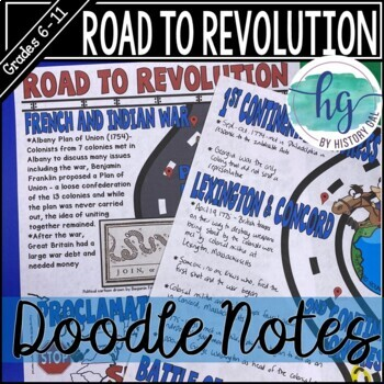 American Revolution Road To Revolution Doodle Notes By History Gal
