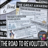 American Revolution: Road to Revolution PowerPoint and Gui