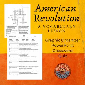 American Revolution - Road to Revolution Vocabulary