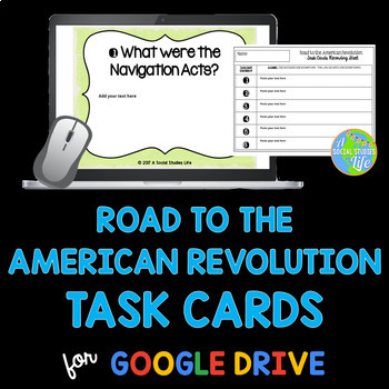 Road to the American Revolution Task Cards