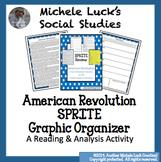 American Revolution SPRITE Social Studies Content Organizer