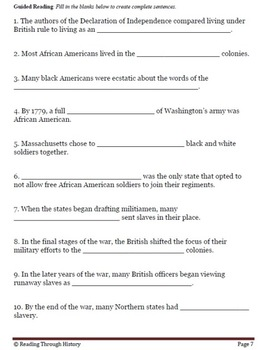 The American Revolution Section 4