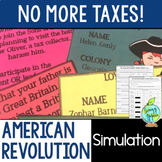American Revolution Simulation, US Revolutionary War Activity