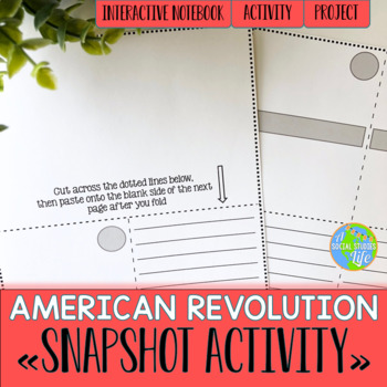 American Revolution Snapshot Foldable