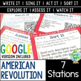 American Revolution Station Activities, Distance Learning; Digital Learning