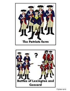 American Revolution Story Cards