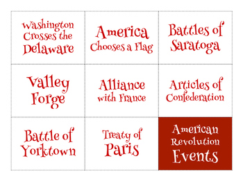 American Revolution Study Guide, Assessment, Flashcards, and Slideshow