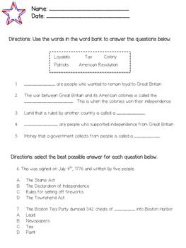 American Revolution Study Guide & Test