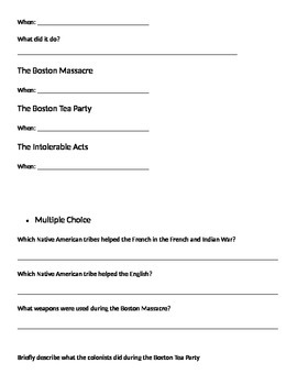 American Revolution Study Guide and Quiz