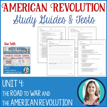 American Revolution Study Guides and Tests