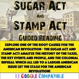 American Revolution - Sugar Act and Stamp Act Guided Reading!