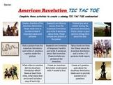 NO PREP - American Revolution TIC TAC TOE