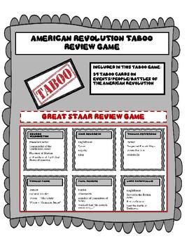 American Revolution Taboo