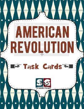 American Revolution Social Studies Task Card Set