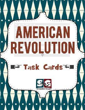 American Revolution Social Studies Task Card Set
