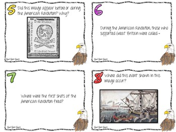 American Revolution Game with Task Cards