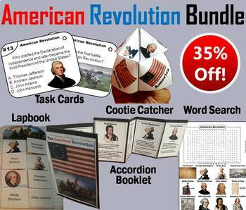 American Revolution Task Cards and Activities Bundle
