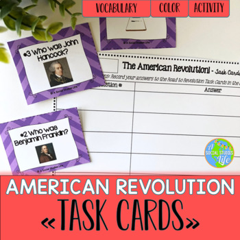 American Revolution Task Cards and Recording Sheet