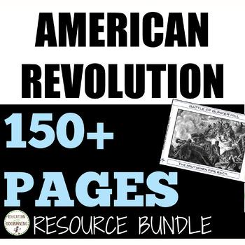Revolutionary War GIANT Curriculum Bundle for American Revolution