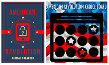American Revolution Technology Two Pack: Digital Breakout & Choice Board